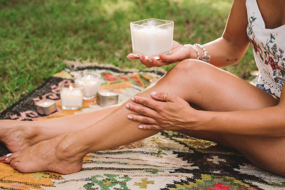 Creative Energy Soy Lotion Candles are all organic hand-poured soy candles that melt to create not only a beautiful scent, but also a healthy body lotion.