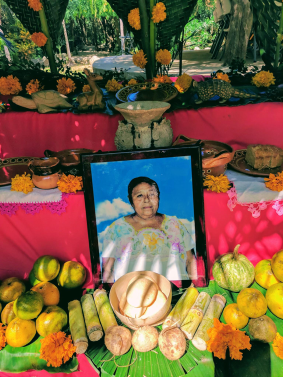 Hanal Pixan means 'food of the souls' and is celebrated with altars to commemorate friends and family that have passed onto the afterlife.