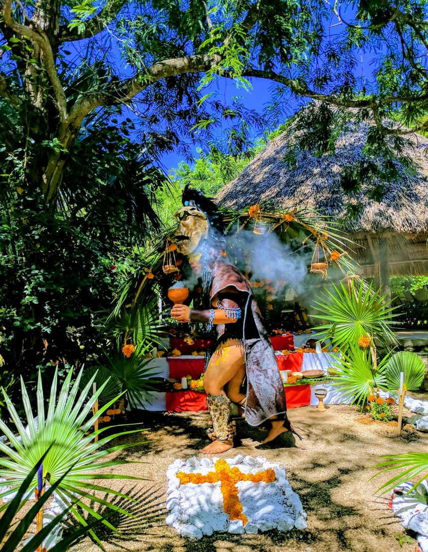 Hanal Pixan is the celebration of the Day of the Dead of the Yucatan that originated from the Mayan culture and has been augmented by Catholicism.