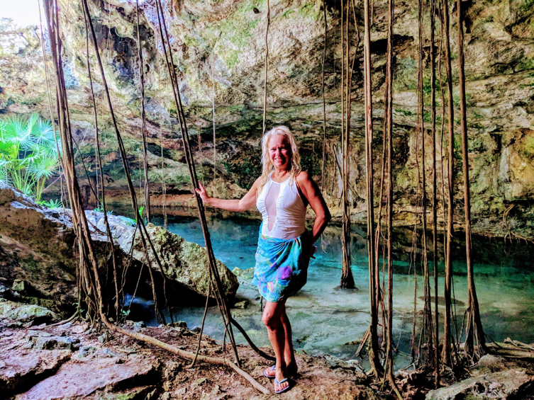 Cenotes are natural swimming holes formed by the collapse of porous limestone bedrock which reveals a hidden subterranean world of groundwater ponds.