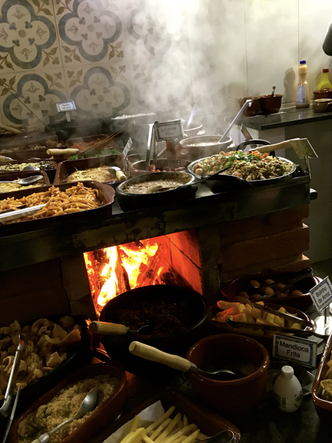Brazil São Paulo Caminho das Gerais home style restaurant in Santo Antônio do Pinhal wood burning stove and dishes IMG_1482.jpg
