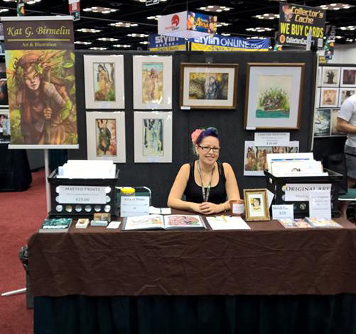 Me at my booth!