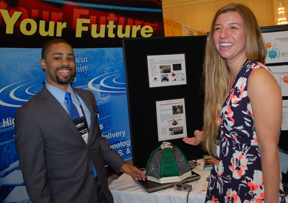 Nicholas Saint  , an electrical engineering student at Housatonic Community College, and   Stephanie Cherry  , a recent engineering graduate from Gateway Community College, plan to present a life raft created with an embedded GPS and SOS light signal for their MET2 project at RCNGM's Mini Maker Faire this fall.