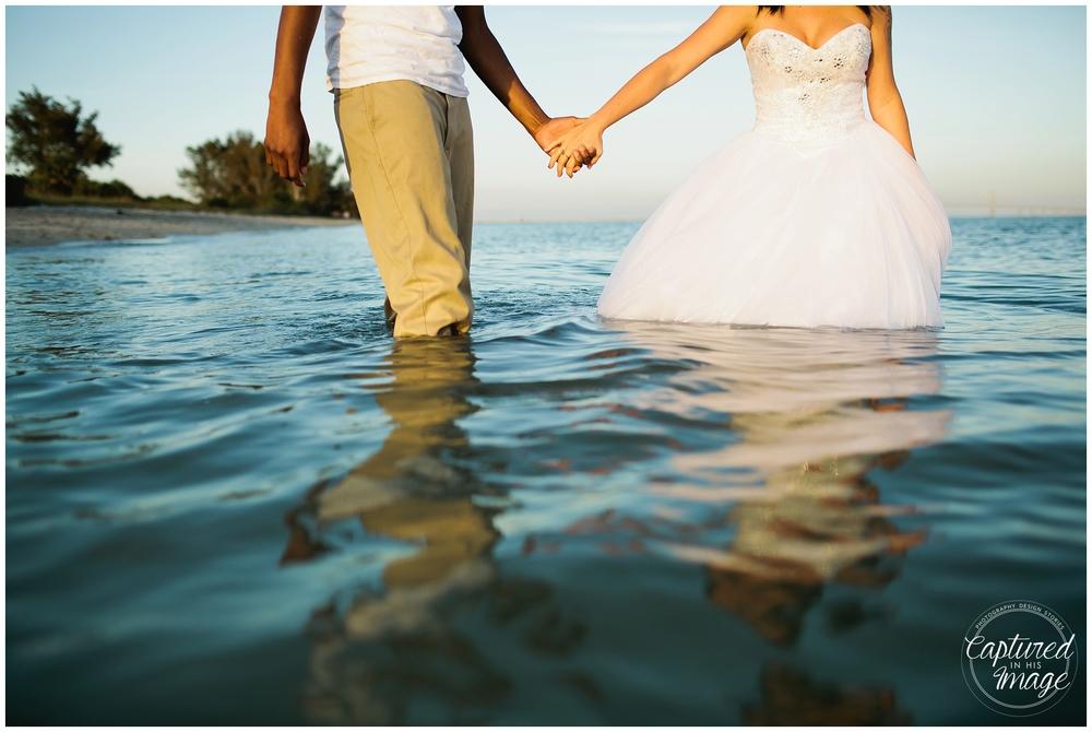 Ft DeSoto Trash the Dress Underwater Wedding Dress_0976