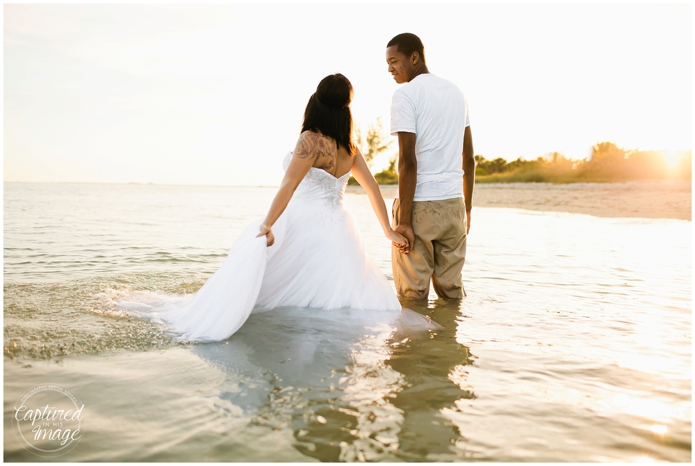 Ft DeSoto Trash the Dress Underwater Wedding Dress_0979