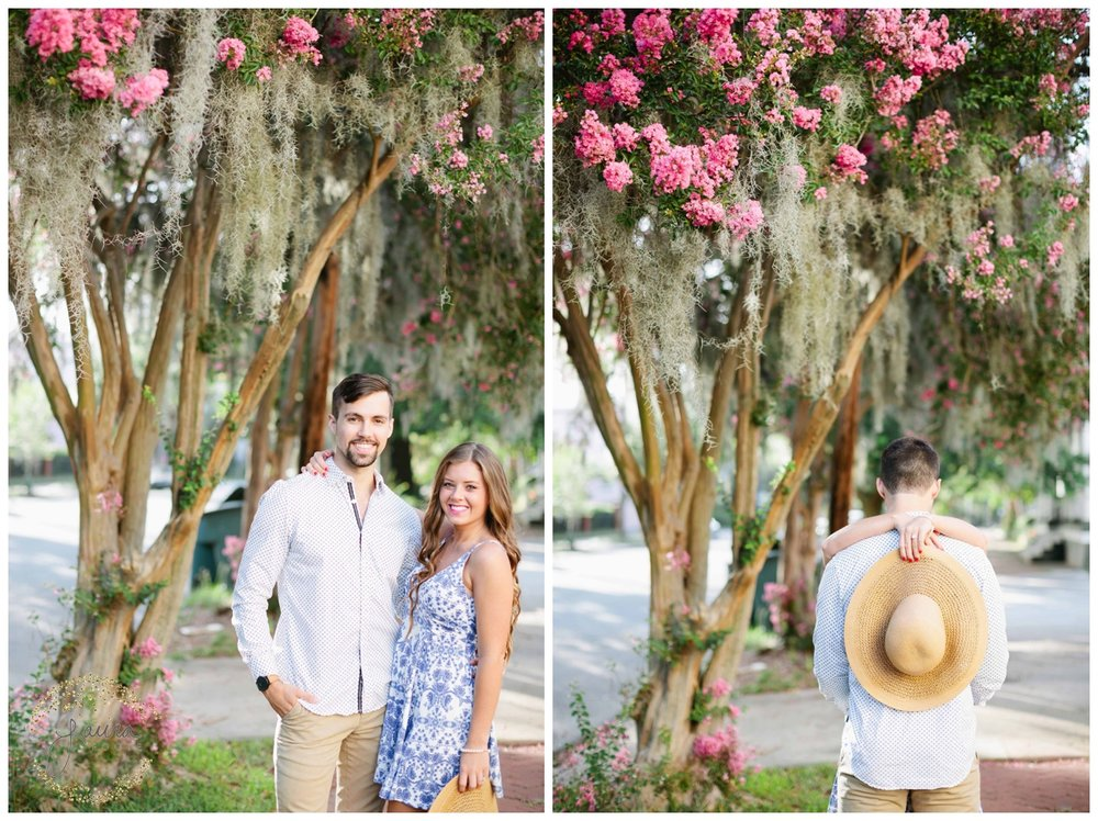 Historic Savannah, GA Summertime Engagement Session_0041.jpg