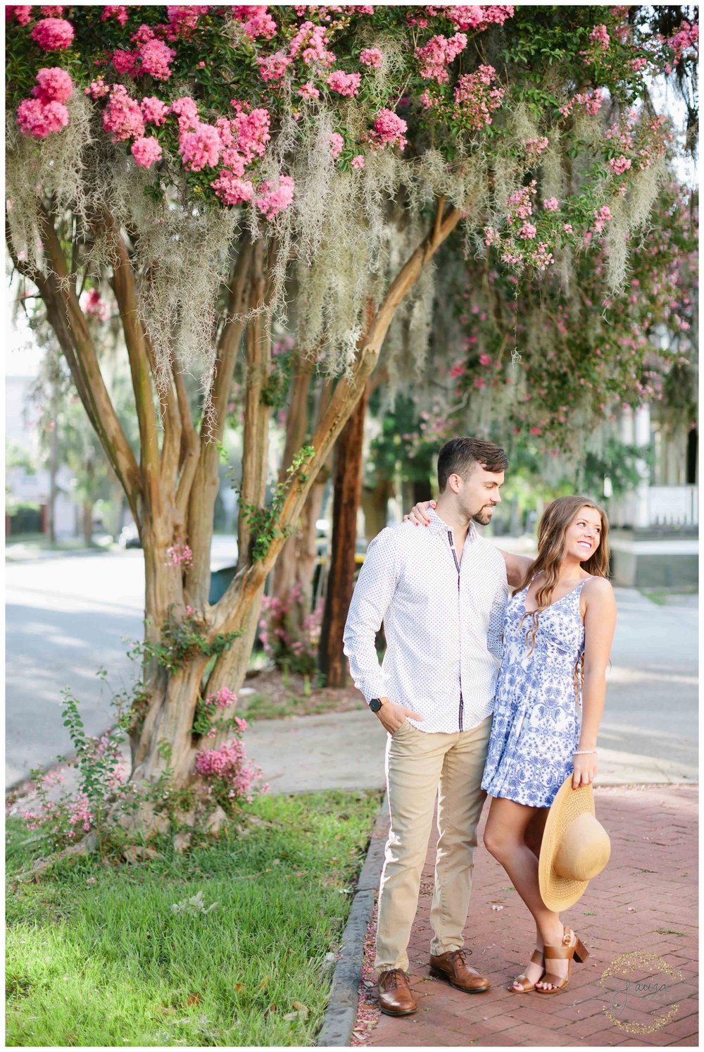 Historic Savannah, GA Summertime Engagement Session_0040.jpg