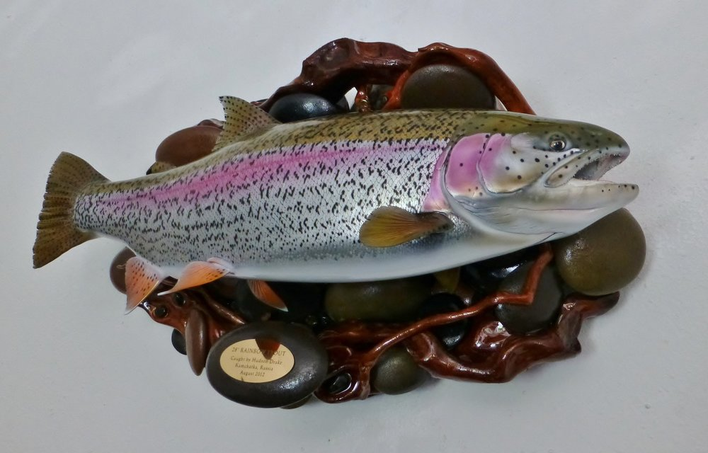 Kamchatka River Rainbow Trout Fish Replica by Luke Filmer