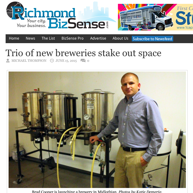 Richmond Biz Sense, June 2015