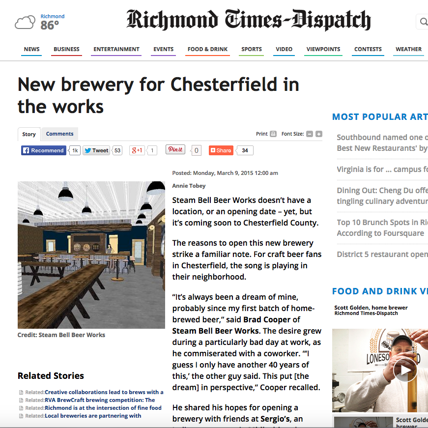 Richmond Times-Dispatch, March 2015