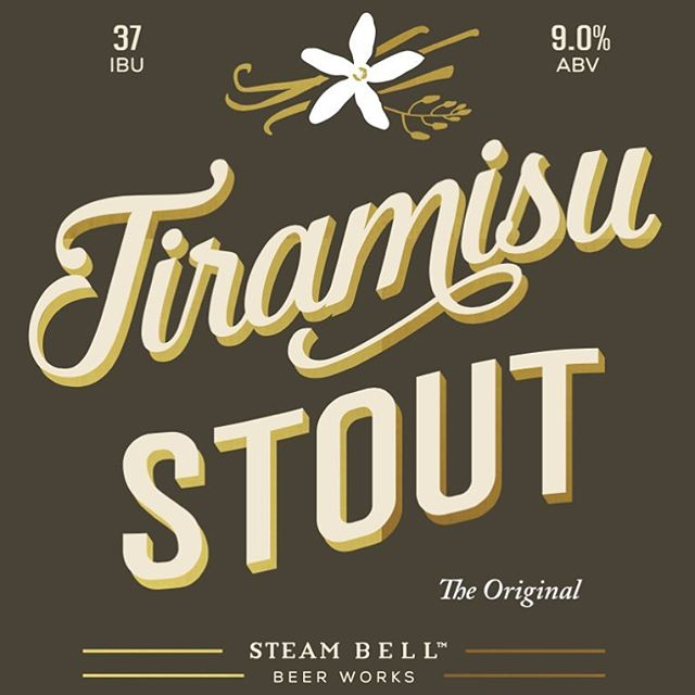 The wait is finally over. Our first run of Tiramisu Stout bottles will release at Steam Bell HQ on November 4th. More details via link in profile 🍻