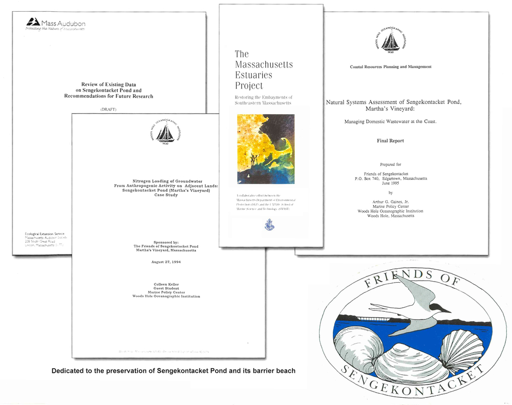 Studies of Sengekontacket Pond funded by or participated in by Friends of Sengekontacket, Inc.