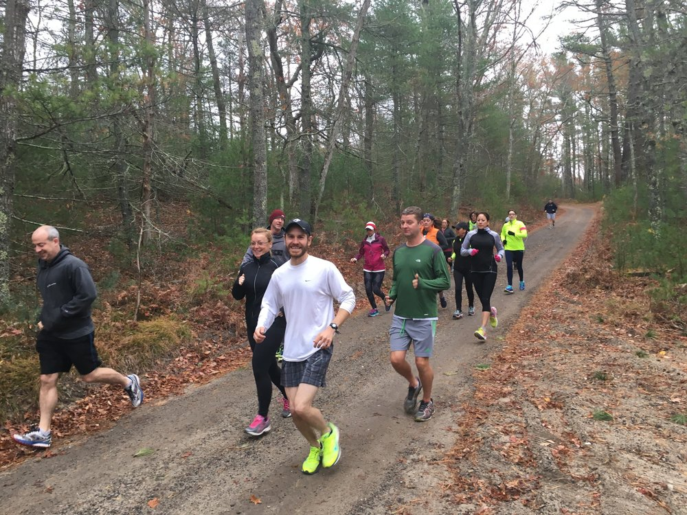 Erik Boyer, Wildlands Trust Property Manager, leads trail runs at Halfway Pond every month.