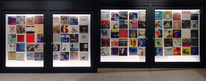 Alain Geronnez. Records by Number (installation view)
