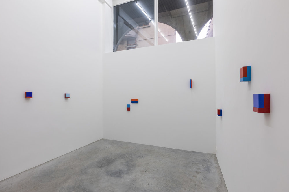 Ane Vester.  On Red & Blue  Exhibition view