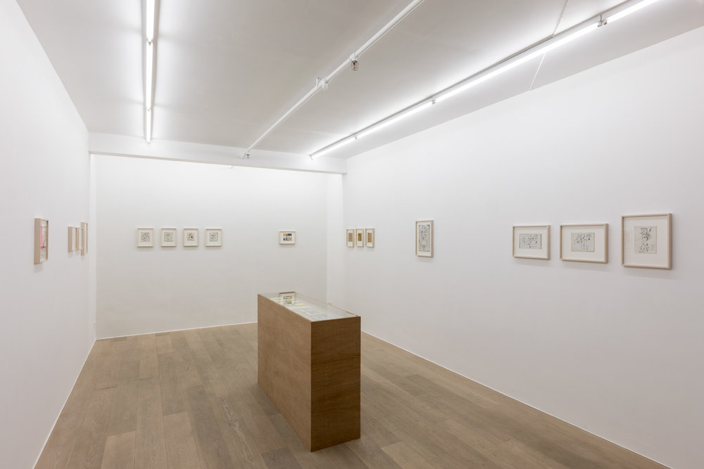 Lionel Vinche.  Early Drawings  Exhibition view
