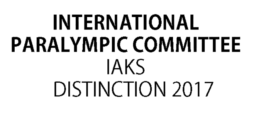 IAKS International Paralympic committee Distinction 2017