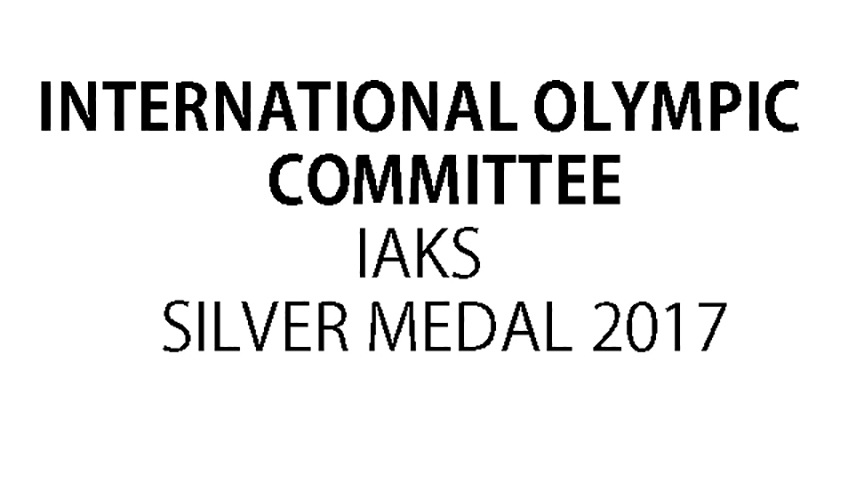 IAKS International Olympic committee Silver Medal 2017