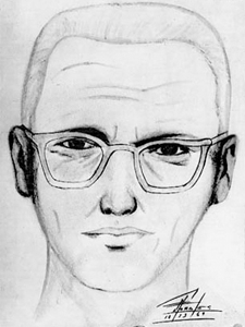 Interesting: - This is a sketch of the real Zodiac Killer. His assaults happened in the 60s and the 70s in Northern California. He has 5 confirmed kills, but his total tally could be well over 30 people. Unfortunately, the Zodiac Killer was never captured and brought to justice.Source: Wikipedia