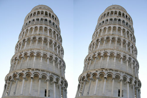 """Leaning Tower Illusion"""