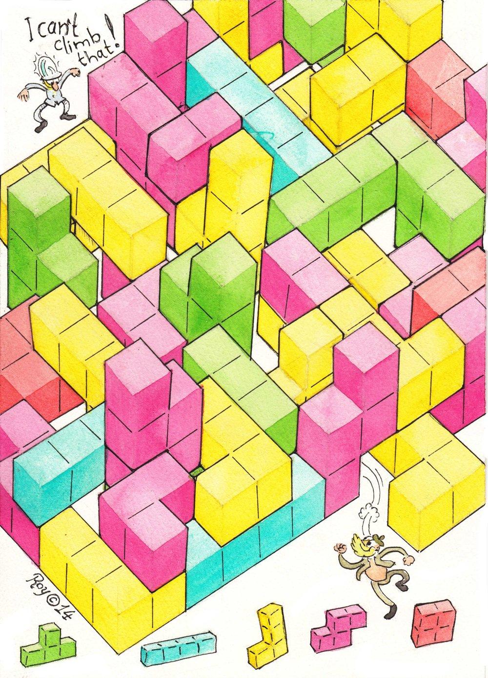 Tetris Maze