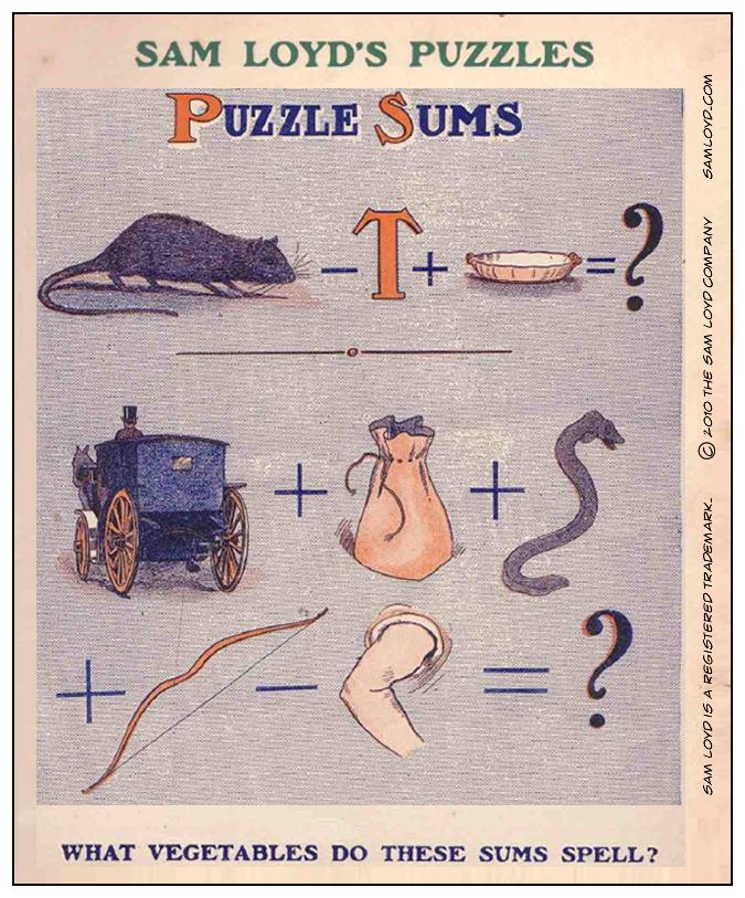 Puzzle Sum Sam Loyd