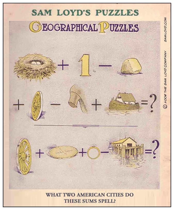 Sam Loyd Puzzle Sum