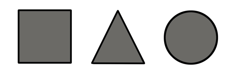 triangle circle square