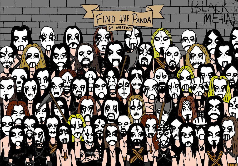 Can you find the panda among the heavy metal artists?  Artist:  Espen Westum
