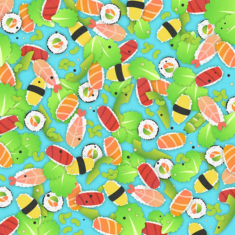 Can you find the caterpillar hidden among the sushi rolls?  Source:  Lenstore.co.uk