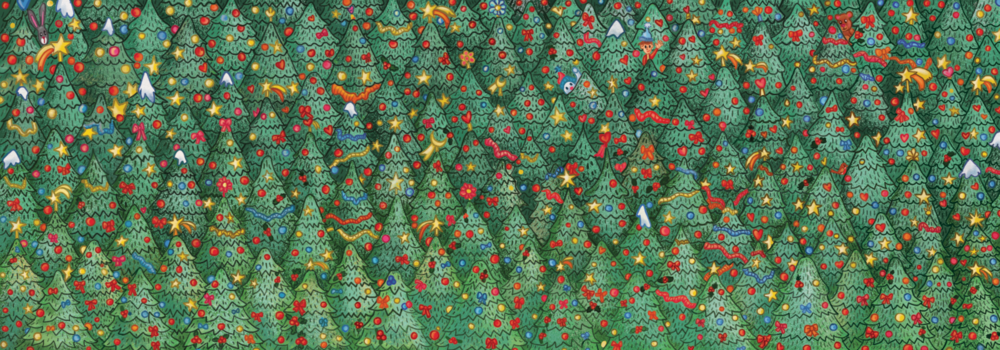 Can you find the Robin hidden among the Christmas trees?  Source:  Bloom and Wild