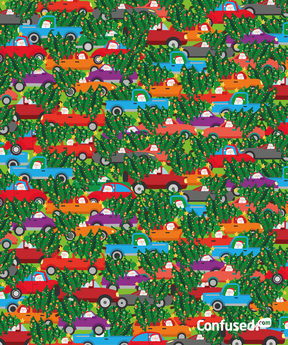 Can you find the elf hidden in the traffic?  Source:  Confused
