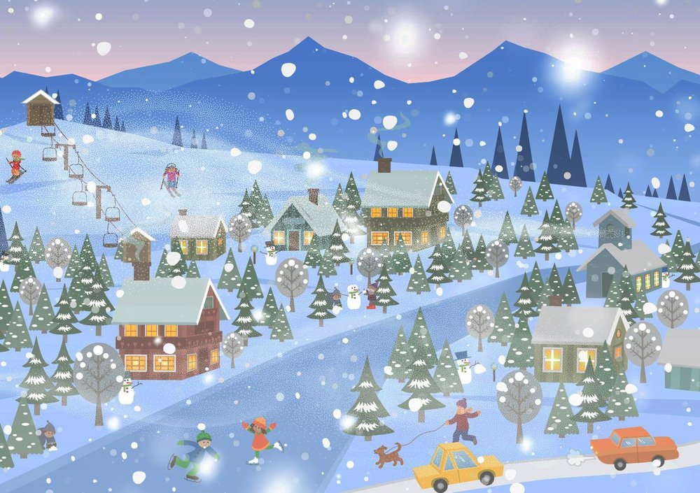 Can you find the wizard in this Christmas landscape?  Sourse:  Casumo