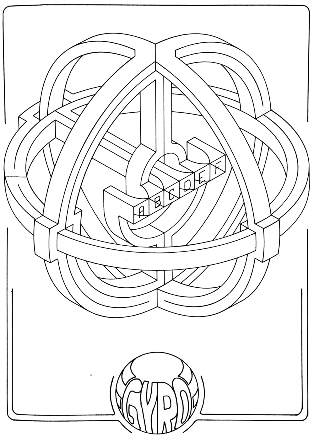 """Author - P. A. Hauser, published in  """"3D Space Mazes"""" by Dover"""