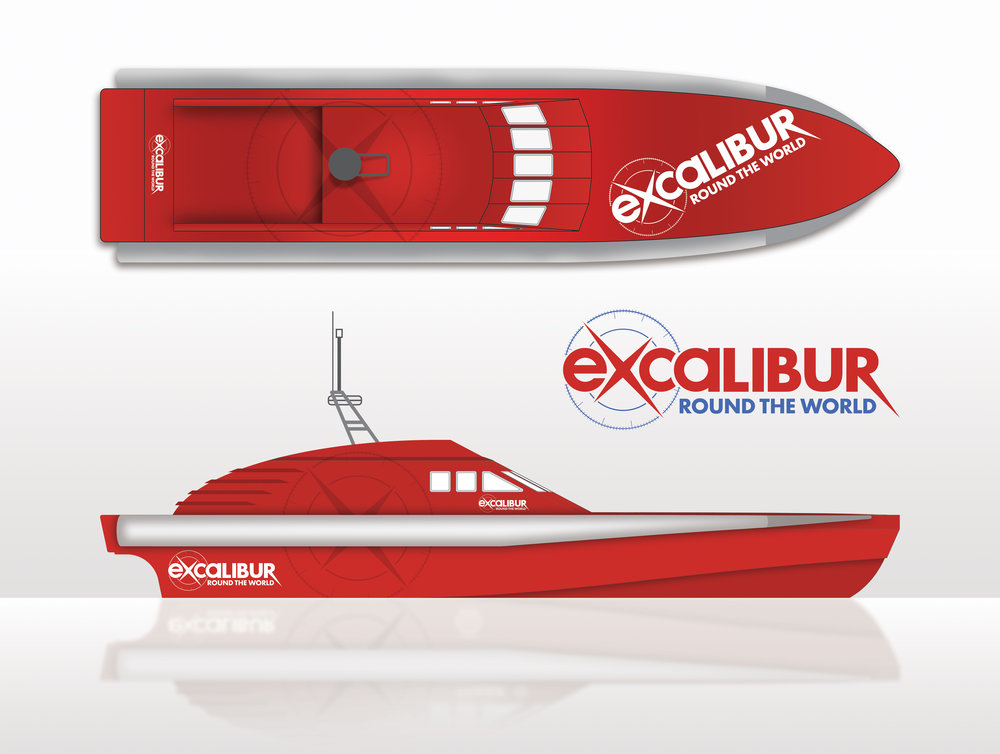Artist's impression of what the 80ft eco-boat will look like when completed