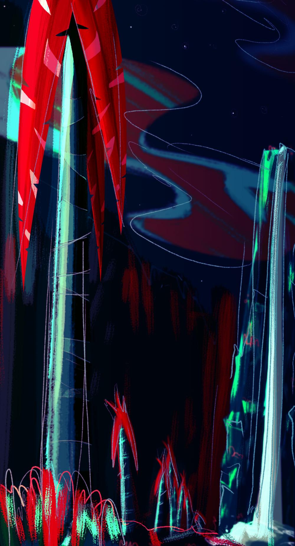 'Blue Trees' Spitpaint