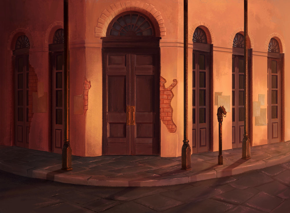 Copy of 'Princess and the Frog' Matte Painting