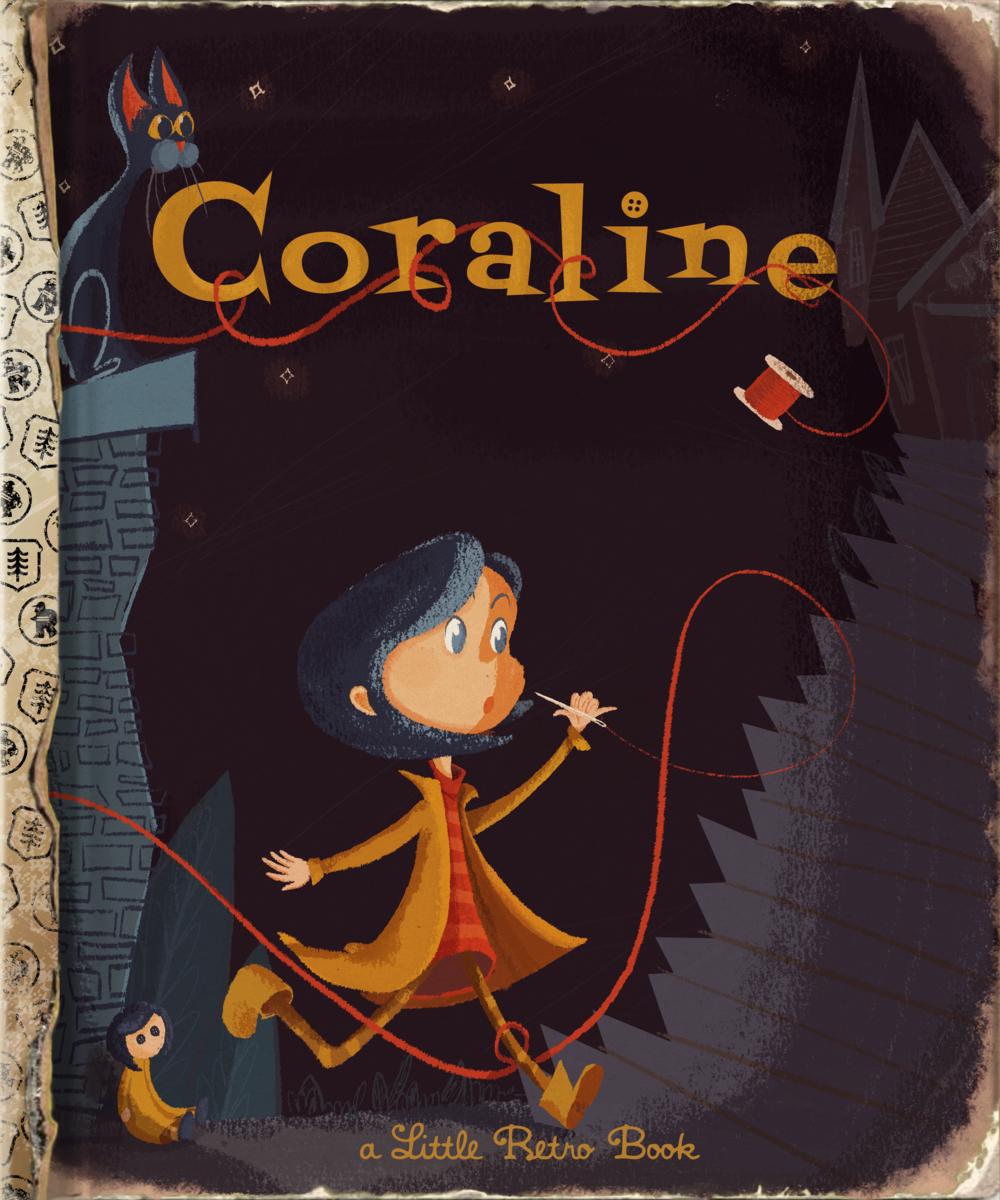 Coraline Golden Book Cover
