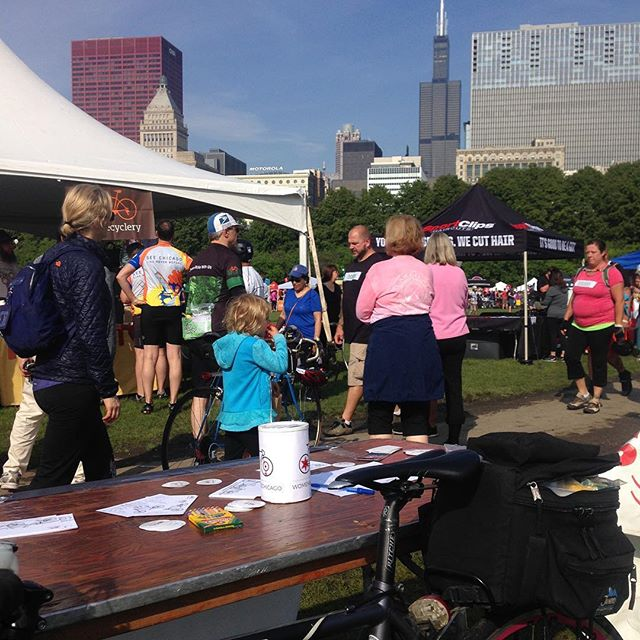 We're at the post-ride festival at #bikethedrivechicago #womenbikechicago #bikechi