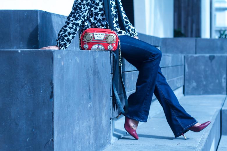 Blouse, Scarf, Denims: ZARA| Shoes: Charles & Keith| Handbag: ModCloth