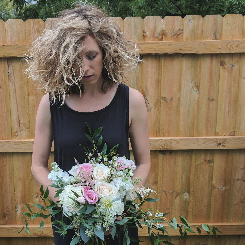 Amanda Holding Bouquet