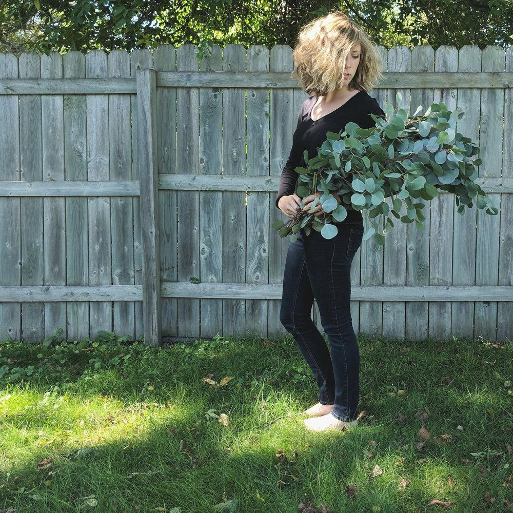 Amanda Holding Eucalyptus