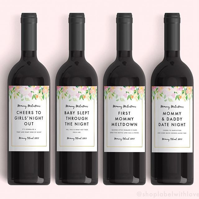Less whine, more wine! 🌷🍷🌻Mother's Day is almost here and we have the perfect gift for all the new moms or mommy to be's out there! 💕Our spring Mommy Milestones come in a set of 4 labels and are ready to ship. These are great for baby showers and new mom gifts as well. Stop by the shop for more designs (link in bio)! . . . . . . #momlife #mothersdaygift #pursuepretty #abmhappyhour #abmlifeiscolorful #mommypreneur #mommyblogger #babybump #toddlermom #thatsdarling #letthembelittle #flashesofdelight #risingtidesociety #mycreativebiz #tsbcalum #livecolorfully #momlifeisthebestlife #womenwholovewine #babybump #mommyneedsadrink #fashionblogger #liketoknowit #partyplanner #readytopop #darlingmovement #mommyandme #toddlerfashion #savvybusinessowner #glitterguide #nss