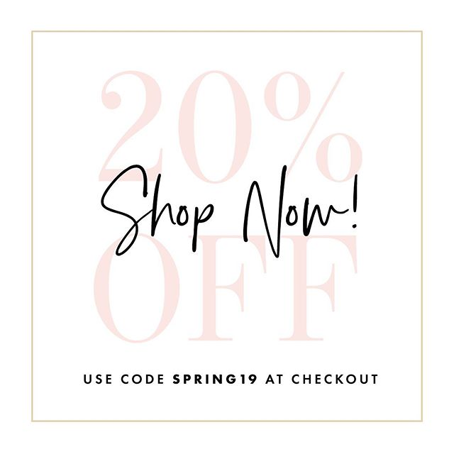 Surprise! We're running a flash sale in now through Tuesday. Use code SPRING19 at checkout to save 20% off your entire purchase ($10 minimum required). Stock up now for your upcoming bridal showers, birthdays, bachelorette parties and even order those Christmas gifts extra early. . Sale ends Tuesday 4/16 at midnight. SHOP NOW!
