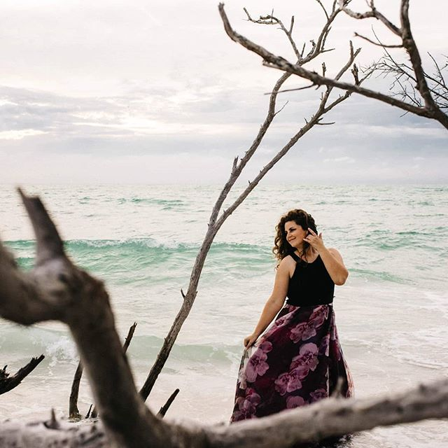 Spent time on Saturday with @ashleycemrick, being extra and wearing gowns on a beach. How did you spend your weekend? 📷 @ashleyemrickphotography . . . . #longboatkey #soprano #operasinger #beach #floridabeach