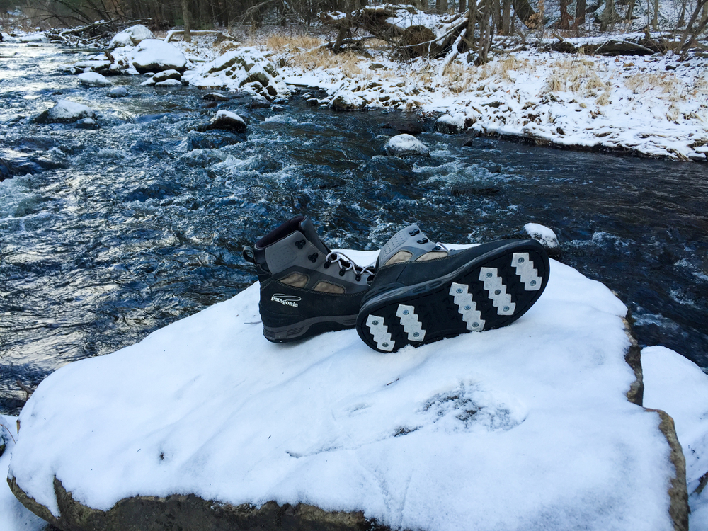 The Patagonia® Foot Tractor Wading Boots now after four full months of testing.