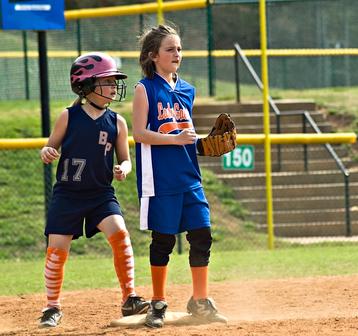 Girl's Softball Base Runner