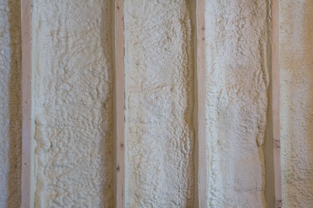 Spray foam insulated wall.
