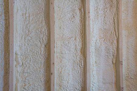 Spray foam insulated wall.