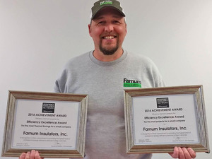 "Efficiency Vermont's Efficiency Excellence Network awarded us ""Most Thermal Savings"" and ""Most Projects"" for a small company in 2016."